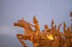 蜡烛狂欢节节日 库存照片