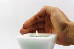 蜡烛现有量白色 库存图片