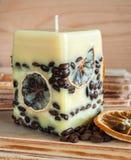 蜡烛用咖啡豆 库存照片