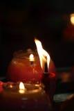 蜡烛的储蓄图象有软的背景 免版税库存照片