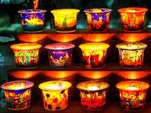 蜡烛的容器 免版税库存照片