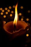 从蜡烛的火焰 免版税库存照片