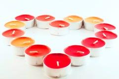 蜡烛的重点 免版税库存照片