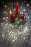 蜡烛看板卡圣诞节问候 库存照片