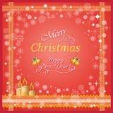 蜡烛看板卡圣诞节 免版税库存图片