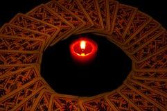 蜡烛看板卡 免版税库存图片