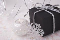 蜡烛礼品雪花 库存照片