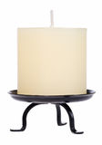 蜡烛空白黄色 库存照片