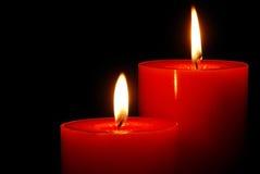 蜡烛纵向 免版税库存照片