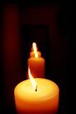 蜡烛线路 免版税库存图片