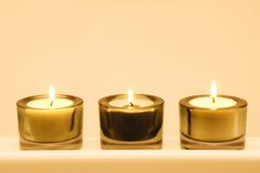 蜡烛组 免版税库存图片