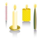 蜡烛网3D集合按钮传染媒介 免版税库存图片