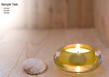 蜡烛蒸汽浴 库存图片