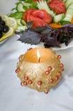蜡烛蔬菜 库存照片
