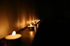 蜡烛行 免版税库存图片