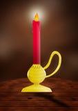 蜡烛表 免版税库存照片