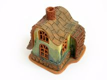 蜡烛装饰房子 免版税库存图片