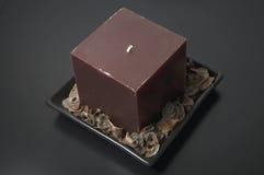 蜡烛装饰正方形 免版税库存图片