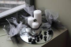 蜡烛装饰 库存图片