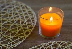 蜡烛装饰 免版税库存图片