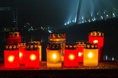 蜡烛记忆 免版税库存照片