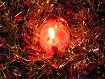 蜡烛闪亮金属片 免版税库存照片