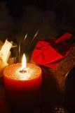 蜡烛集合温泉 免版税库存图片
