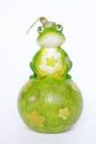 蜡烛青蛙绿色 免版税库存照片