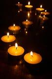 蜡烛黑暗光 库存照片