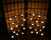 蜡烛黑暗 免版税库存图片