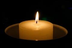 蜡烛,当烧时 免版税库存照片