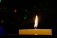 蜡烛,当烧时 库存图片