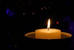 蜡烛,当烧时 免版税库存图片
