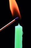 蜡烛flme 图库摄影
