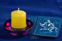 蜡烛tarot 免版税库存照片