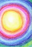 蜡状柔和的淡色彩的彩虹 皇族释放例证