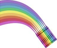 蜡笔例证彩虹向量 免版税库存照片