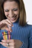 蜡笔如何有i许多 免版税库存图片