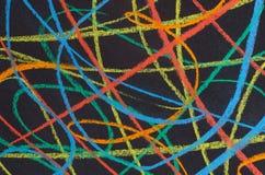 蜡笔得出的彩虹光谱 免版税库存照片