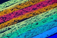 蜡笔得出的彩虹光谱 免版税图库摄影