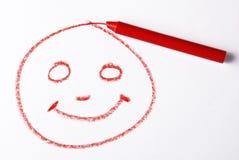 蜡笔微笑 库存照片