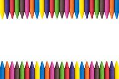 蜡笔拷贝空间 免版税图库摄影