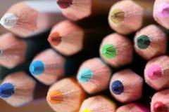 蜡笔木头 库存照片