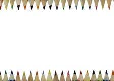 蜡笔框架 免版税库存图片