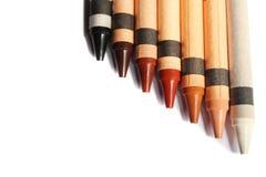 蜡笔用不同的肤色 免版税库存图片