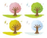 蜡笔结构树 免版税库存图片