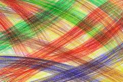 蜡笔被画的现有量多彩多姿的冲程 免版税库存照片