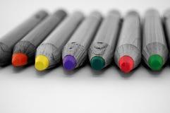 蜡笔铅笔 图库摄影