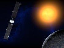 蜡膜,一个矮小的行星,黎明探针 免版税库存图片