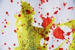 蜡,闪耀的光,冬天油漆背景 免版税库存照片